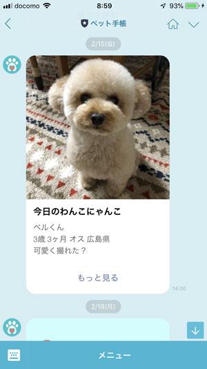 ペット手帳 犬 アプリ
